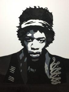 Jimi Hendrix, rocknroll, rock and roll, rock n roll, denimart, denim art, popart, pop art, portræt, unika, slowfashion, artwork, contemporaryart, contemporary art, håndlavet, vægkunst, væg kunst, vægophæng, denimporn, denimdetails, denimdudes, denimkunst, denim kunst