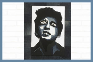bob dylan, denimart, denim art, denim